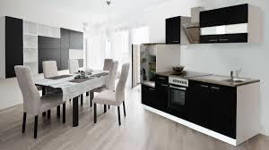 respekta küchenzeile küche küchenblock einbauküche komplett 270cm weiß schwarz