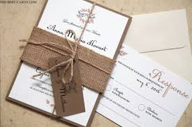 Rustic Wedding Invitations With Burlap And String
