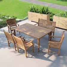 Amazon.com: Cambridge-Casual AMZ-610171T 6 Piece Willoughby ... And Teak Fniture Timber Sets Chairs Round Porch Fa Wood Home Decor Essential Patio Ding Set Trdideen As Havenside Popham 11piece Wicker Outdoor Chair Sevenposition Eightperson Simple Fpageanalytics Design Table Designs Amazoncom Modway Eei3314natset Marina 9 Piece In Natural 7 Brampton Teak7pc Brown Classics