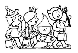 Preschool Coloring Pages Halloween With Scary Costume For Sheets And Books Also Ready Print