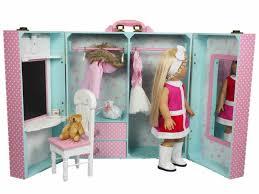 Pink Bedroom Trunk & Furniture For 18 Dolls & American Girl¨