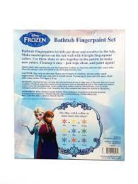 amazon com disney frozen bathtub fingerpaint set mess free soap