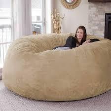 7ft riesen big weiche micro wildleder sitzsack sofa abdeckung stuhl jumbo bequeme entspannen wohnzimmer sitzsack abdeckung dropshipping