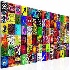 details zu vlies deko leinwand bilder pop abstrakt modern wandbild wohnzimmer