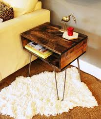 How To Build Wooden End Table by Diy Hairpin Leg Side Table
