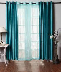 Curtain Rod Set India by 28 Off On Fabbig Multicolor Polyester Plain Long Door Eyelet Set