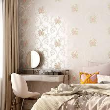 neue rosa blume schlafzimmer tapete romantische 3d geprägte tapeten wohnzimmer floral papier peint selbst klebe wand papier ez134