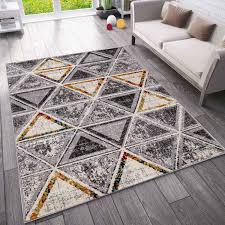 teppich wohnzimmer schlafzimmer flur teppich geometrisches muster in bunt vimoda homestyle