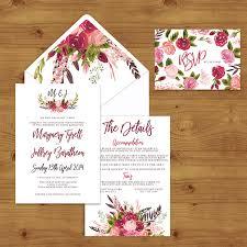 RUSTIC ROSE WEDDING INVITATION SUITE