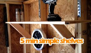 Building Wood Shelves For Garage Attached To Studs by Simple Easy Diy Shelves Under 15 Sturdy Shelving Anyone Can
