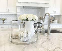 Fall Kitchen Countertop Decor Neutral