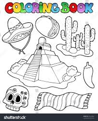 Coloring Book With Mexican Theme 1