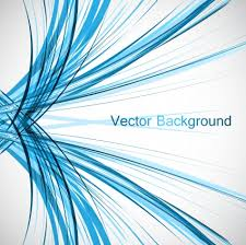 Abstract Colorfull Blue Line Vector Design Illustration Free Download