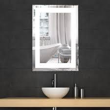Decoraport Vertical Rectangle LED Bathroom Mirror Illuminated