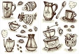 dekodino wandtattoo kaffeetassen und kaffebesteck set küchen esszimmer deko