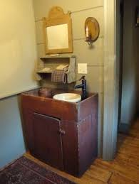 good drop in sink idea for primitive or colonial home wood