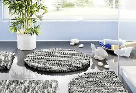 badteppich grau hochflor rund ø80cm teppich vorleger