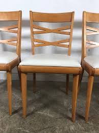 100 Birch Dining Chairs Handsome Set Of Four Midcentury By Heywood