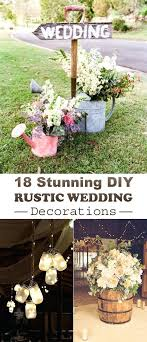 Fancy Rustic Wedding Decoration Stunning Decorations Outdoor Ideas