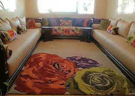 un superbe tapis un superbe tissus ds les mêmes motifs et le