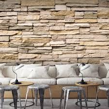 decomonkey fototapete stein steinwand steinoptik braun
