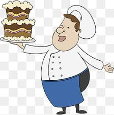 Hand painted cake baker Vector Baking Baker PNG and Vector