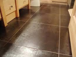 brown floor tile bathroom