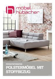 produkteinformation polstermöbel mit stoffbezug by möbel