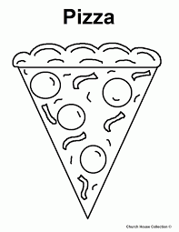 Pizza Coloring Sheet