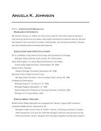 Education Resume Examples Library Sample Media Specialist In