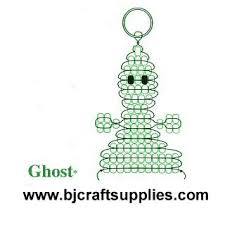 Create This Cute Baded Ghost Keychain Great For Your Key Ring To Use As Halloween Decorations Give Gifts Or Make Fund Raisers