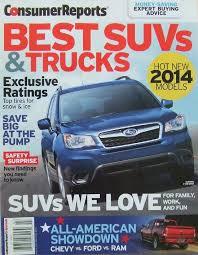 100 Best 2014 Trucks Consumer Reports Suvs Magazine Amazoncom Books