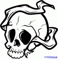 Tattoo Chibi Drawn Skull Dragoart Pencil And In Color