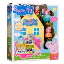 peppa pig peppa pig s playhouse with figures mummy