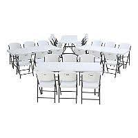 lifetime commercial grade contoured folding chair select color