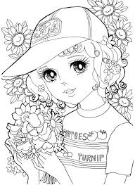 584x800 Kawaii Girls Coloring Pages Luxury Japanese Shoujo Book 2