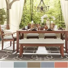 Yasawa Modern Brown Wood Outdoor Rectangle 6 Piece Dining Set INSPIRE Q Oasis