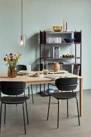 hübsch stuhl set holz metall fsc schwarz 4er set