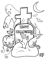 Printable Halloween Coloring Page Free PDF Download At Coloringcafe