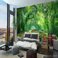 großhandel natur landschaft 3d wandbild tapete holz park kleine straße mural wohnzimmer tv hintergrund fototapete für schlafzimmer wände arkadi