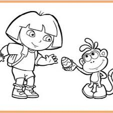 Dora Colouring Pages Nickelodeon Easter Coloring Gallery
