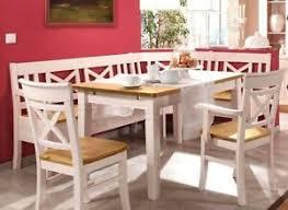 details zu massivholz eckbank essgruppe 2farbig weiß gelaugt kiefer eßzimmer möbel landhaus