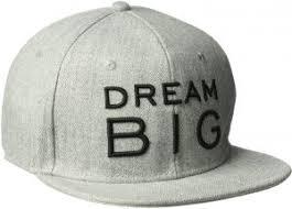 Sean John Mens Dream Big Baseball Cap Adjustable Gray One Size