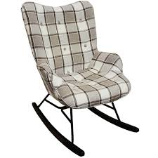 Check - Wing Back Rocking / Nursing Chair With Checked Tartan Fabric - Grey  / White / Black Micuna Nanny Nursing Chair Grey Lherette Dutailier Recling Nursing Chair Roverappartentme Modern Gliders Rocking Chairs Allmodern Best Baby 2019 The Sun Uk Check Wing Back With Checked Tartan Fabric White Black Home Decor Gallery Habe Glider Stool Beech Wood Washable Covers Brake System Tutti Bambini Recling With Cushions Cool Asta Rocker Kirkton House Accent Nested Soothe Easy Icey