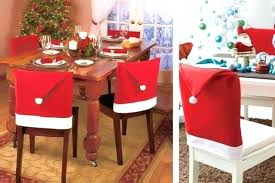 Christmas Ribbons Dining Room Chair Cover