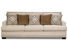 100 Cor Sofas ANNA WHITE LINEN Sofa AND Love Seat