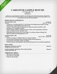Caregiver Summary For Resume Awesome Sample Education Example Educational Background In
