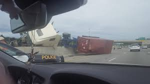 100 Truck Rollover QEW Reopens Shelterinplace Lifted After Truck Rollover In St