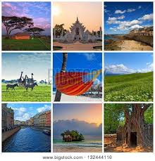 Collage With Various Travel Photos And Destinations