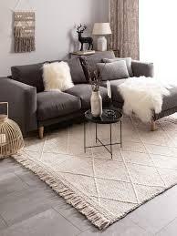 teppich wollteppich beige carpetz wohnzimmer
